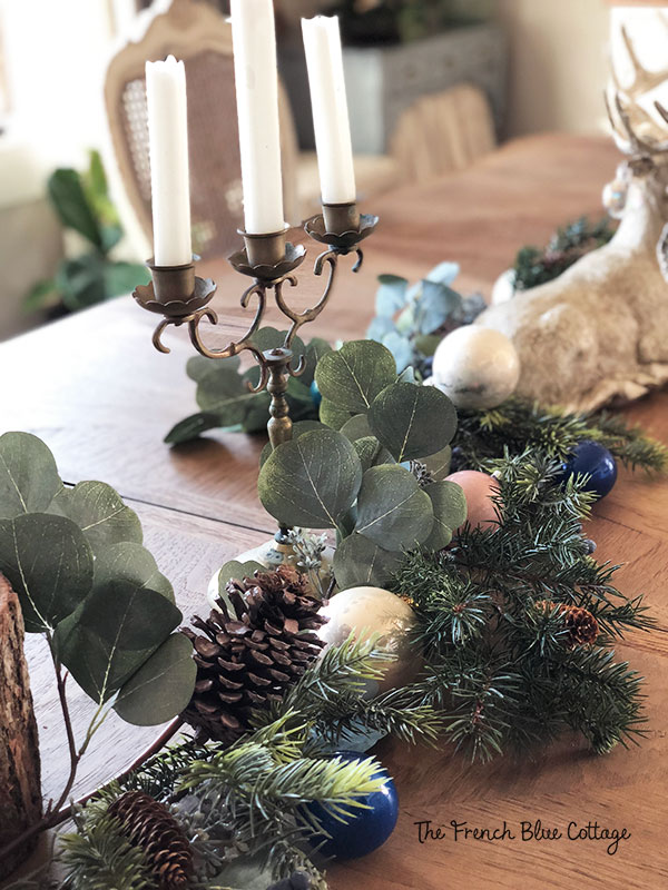 Eucalyptus garland for woodland glam dining table.