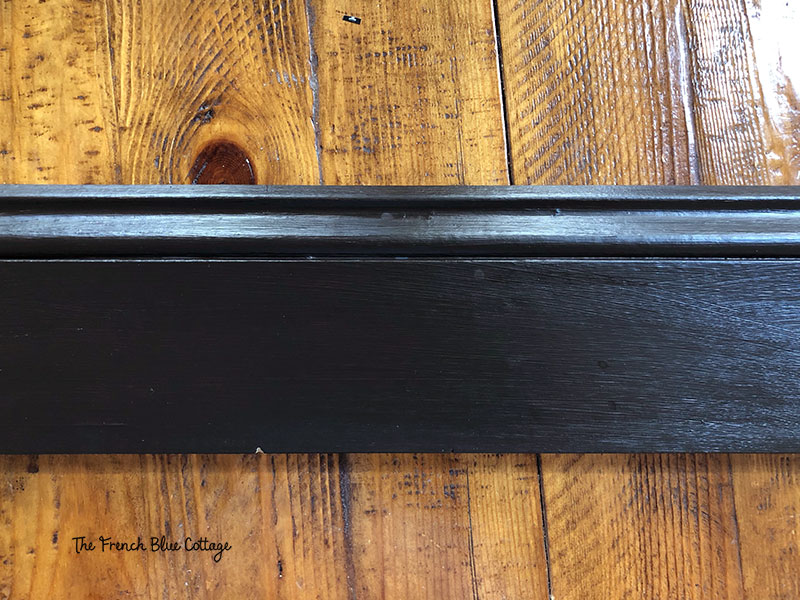 brown painted baseboard sample