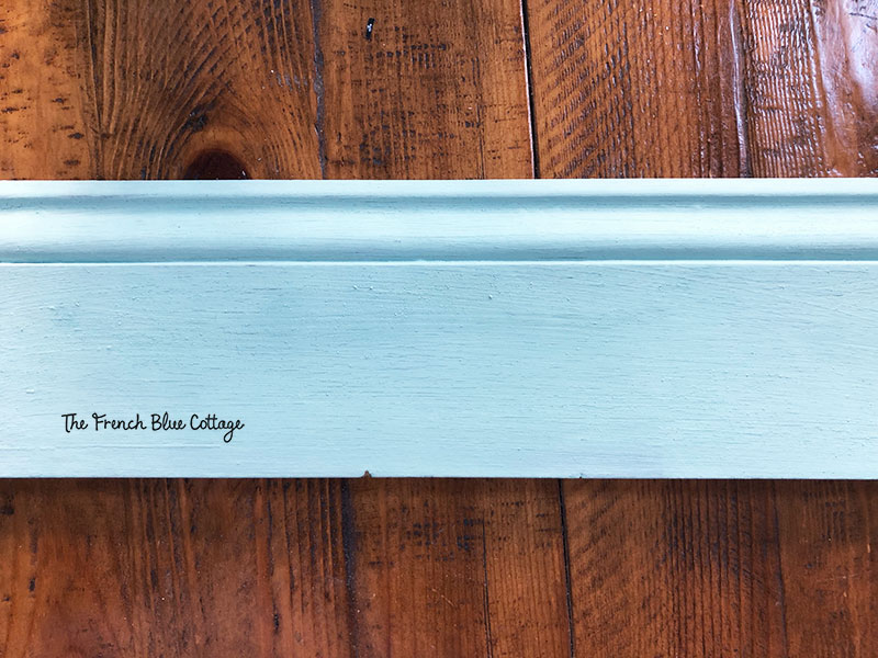 milk paint on baseboard sample
