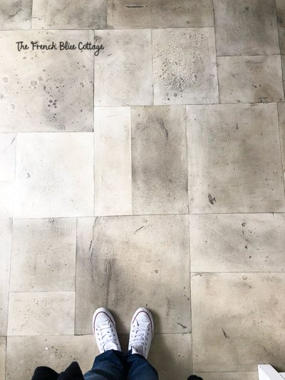 painted concrete floor tiles