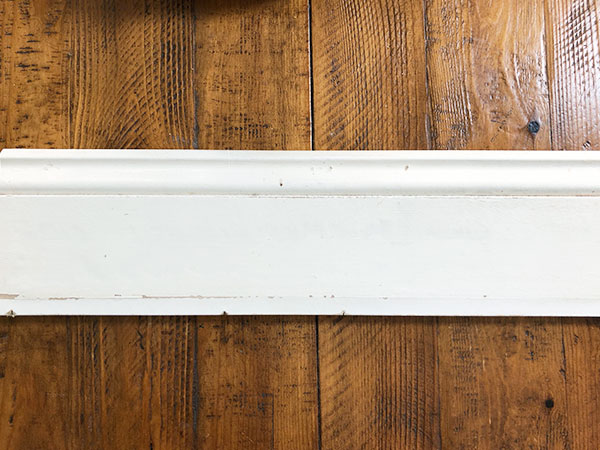 white wood trim piece