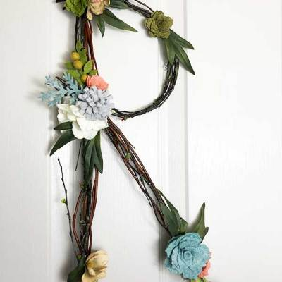 How to Make a Twig and Felt Flower Letter