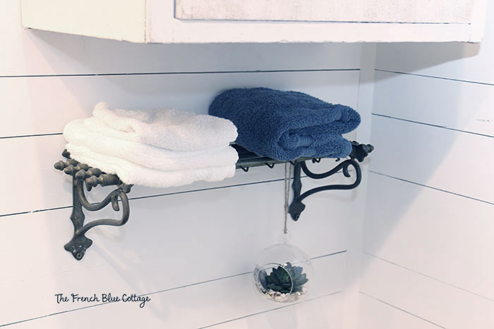 brass train rack towel shelf