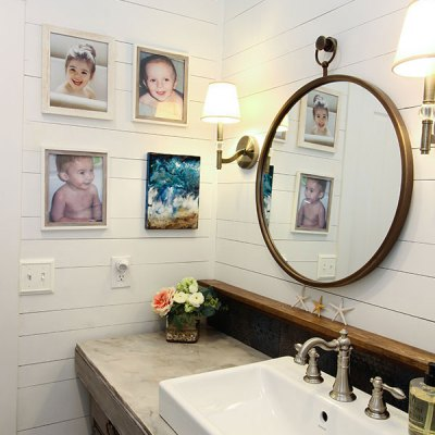 A Coastal Farmhouse Bathroom Remodel