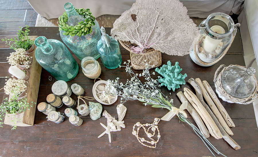 coastal inspired mantel decor ideas supplies