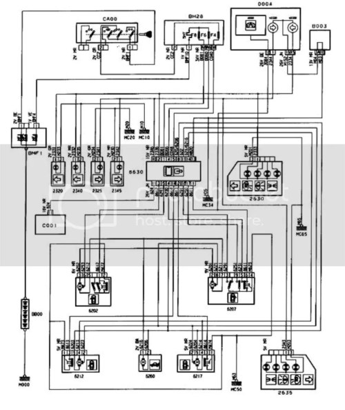 small resolution of peugeot 405 wiring system