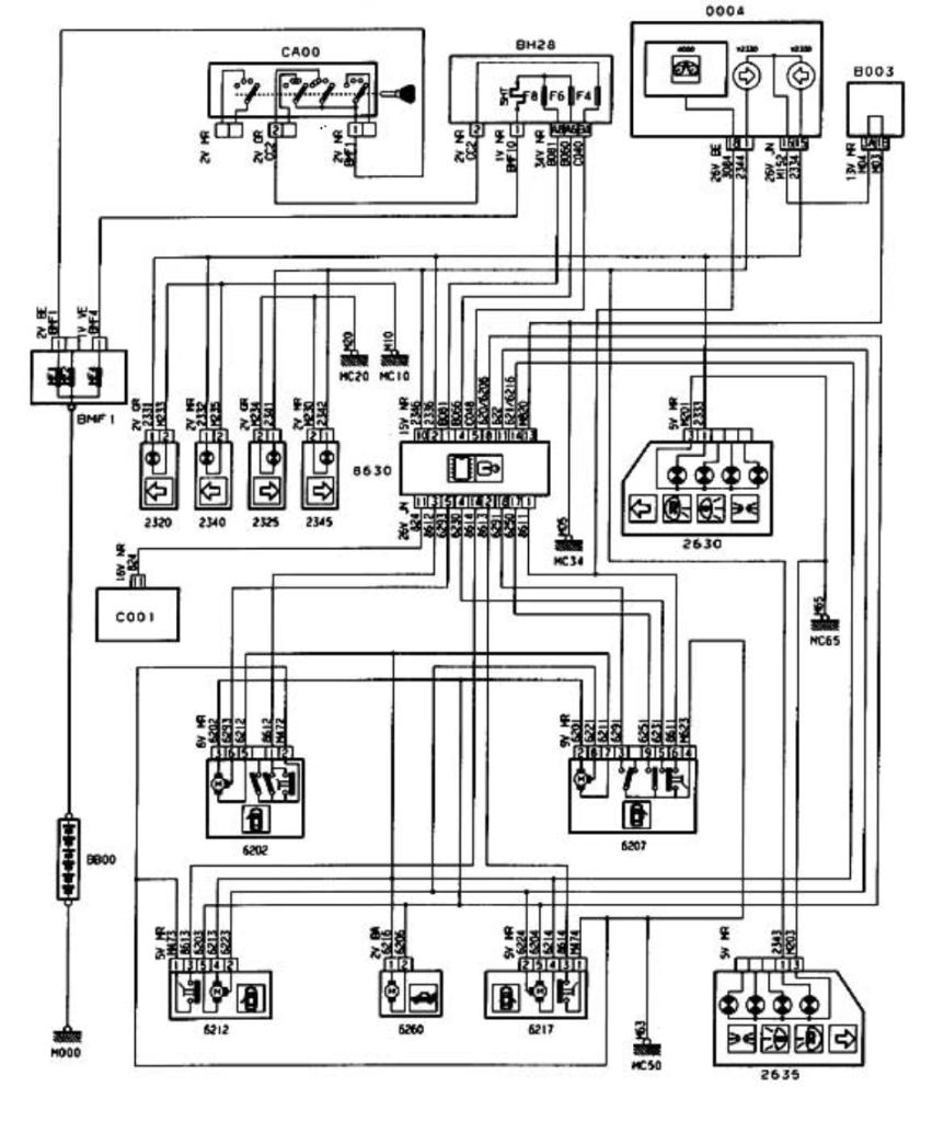 medium resolution of 2001 306 central locking french car forum peugeot 406 central locking wiring diagram