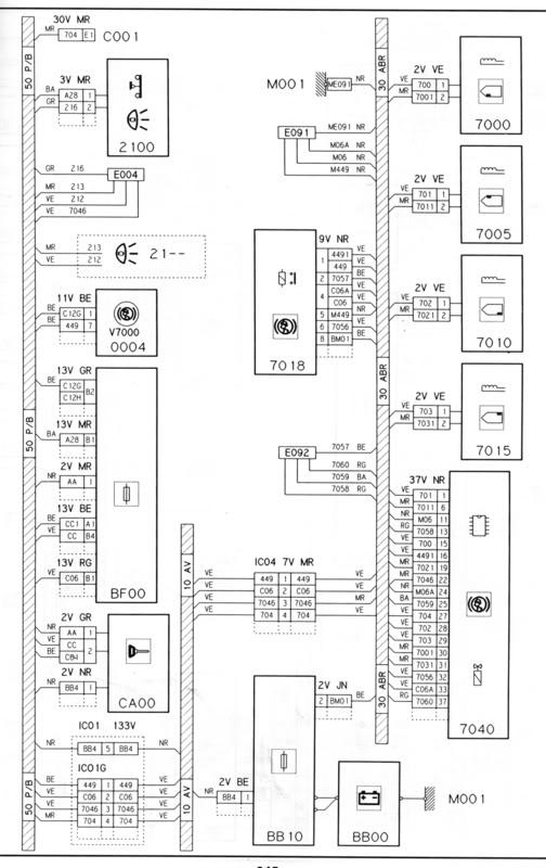 wiring diagram citroen xantia 1 9 td