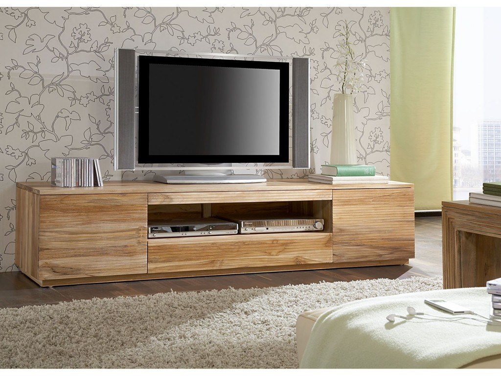 Table De Television En Bois Ides De Dcoration