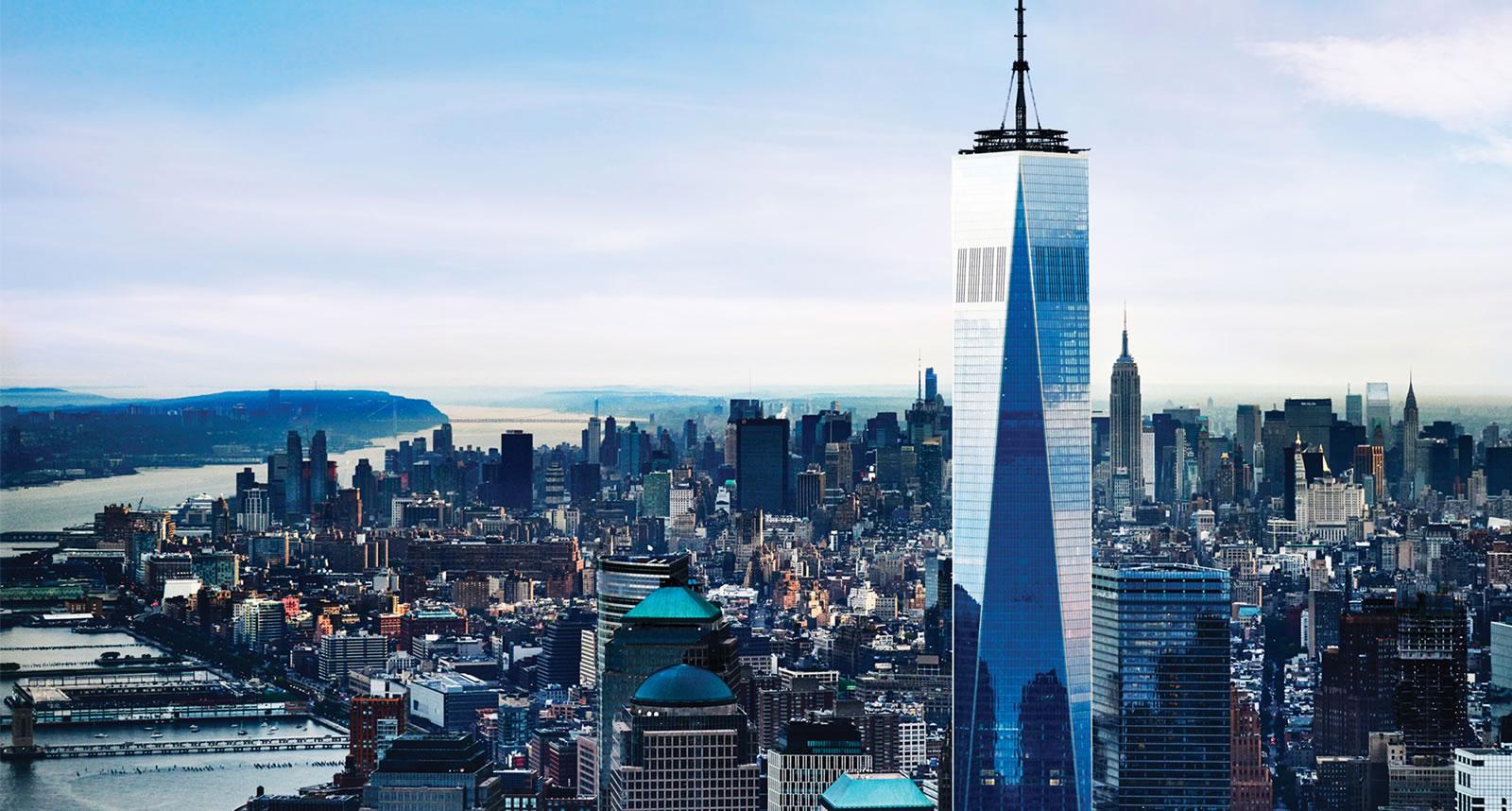 Le one World Observatory  vue panoramique sur les hauteurs de NYC