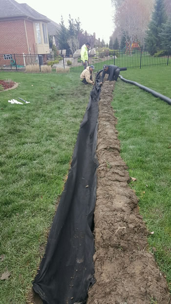 french drain systems curtain drains