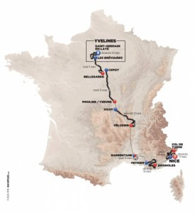 Paris-Nice map