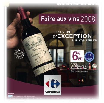 French superstore wine sales