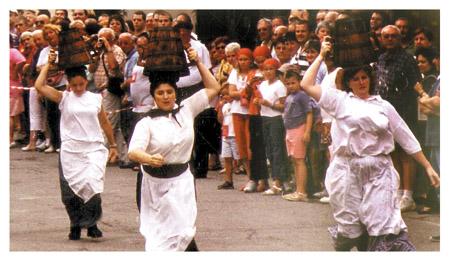 Salt carriers at Salies de Bearn Salt Festival