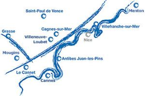 map of Provence painters route