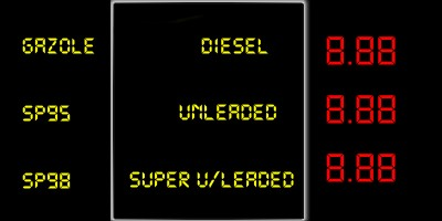 Fuel Prices sign in France