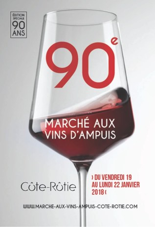 Ampuis wine market poster 2018