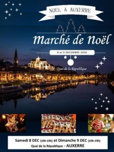 Auxerre Christmas Market poster