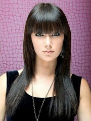 long straight cut hairstyles