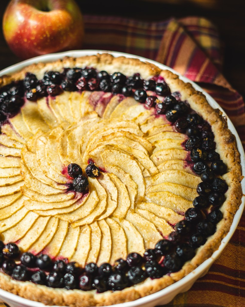 Apple and Blueberry Tart