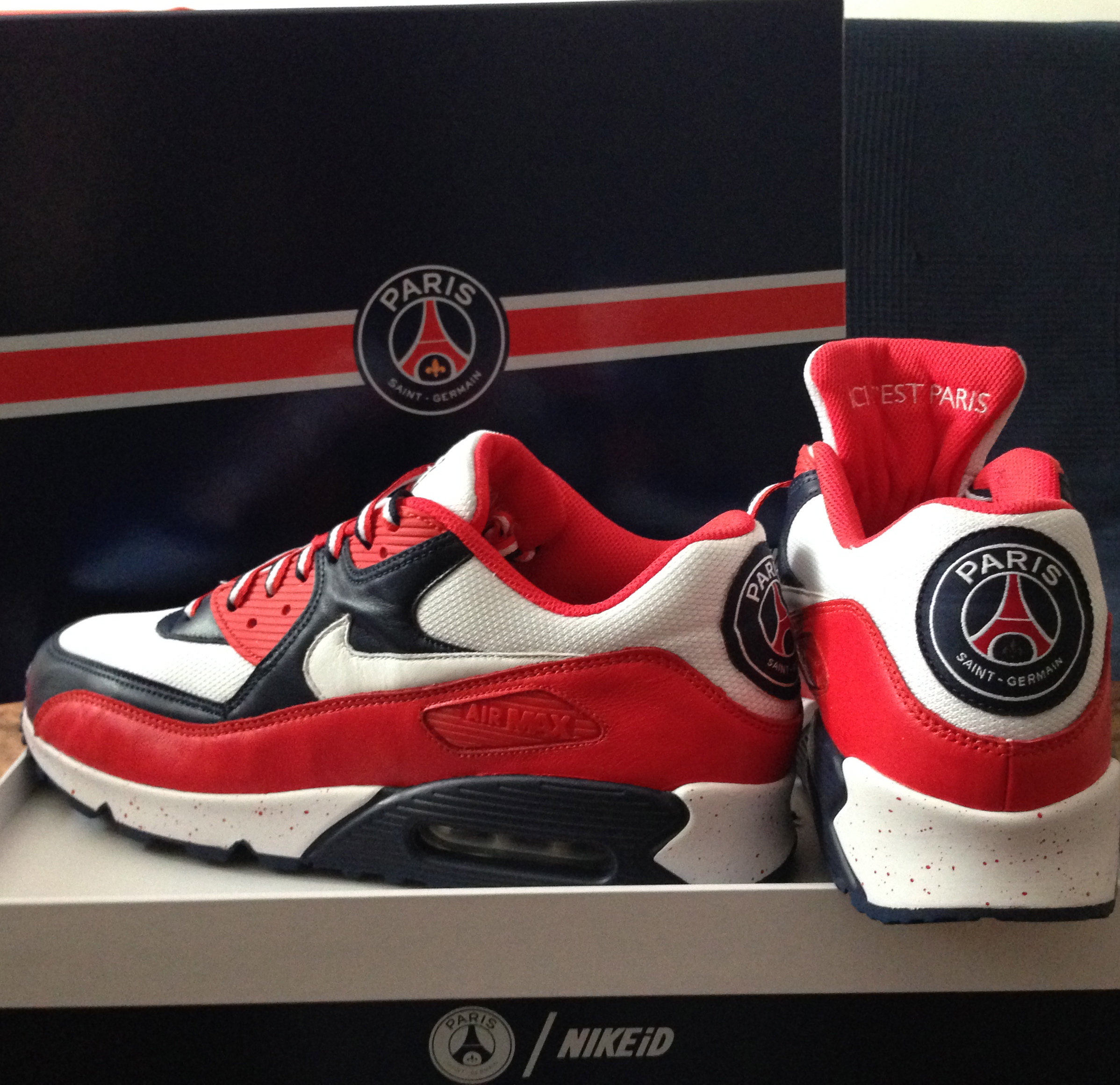 94b7ac0fcd nike air max 90 psg id mens shoe