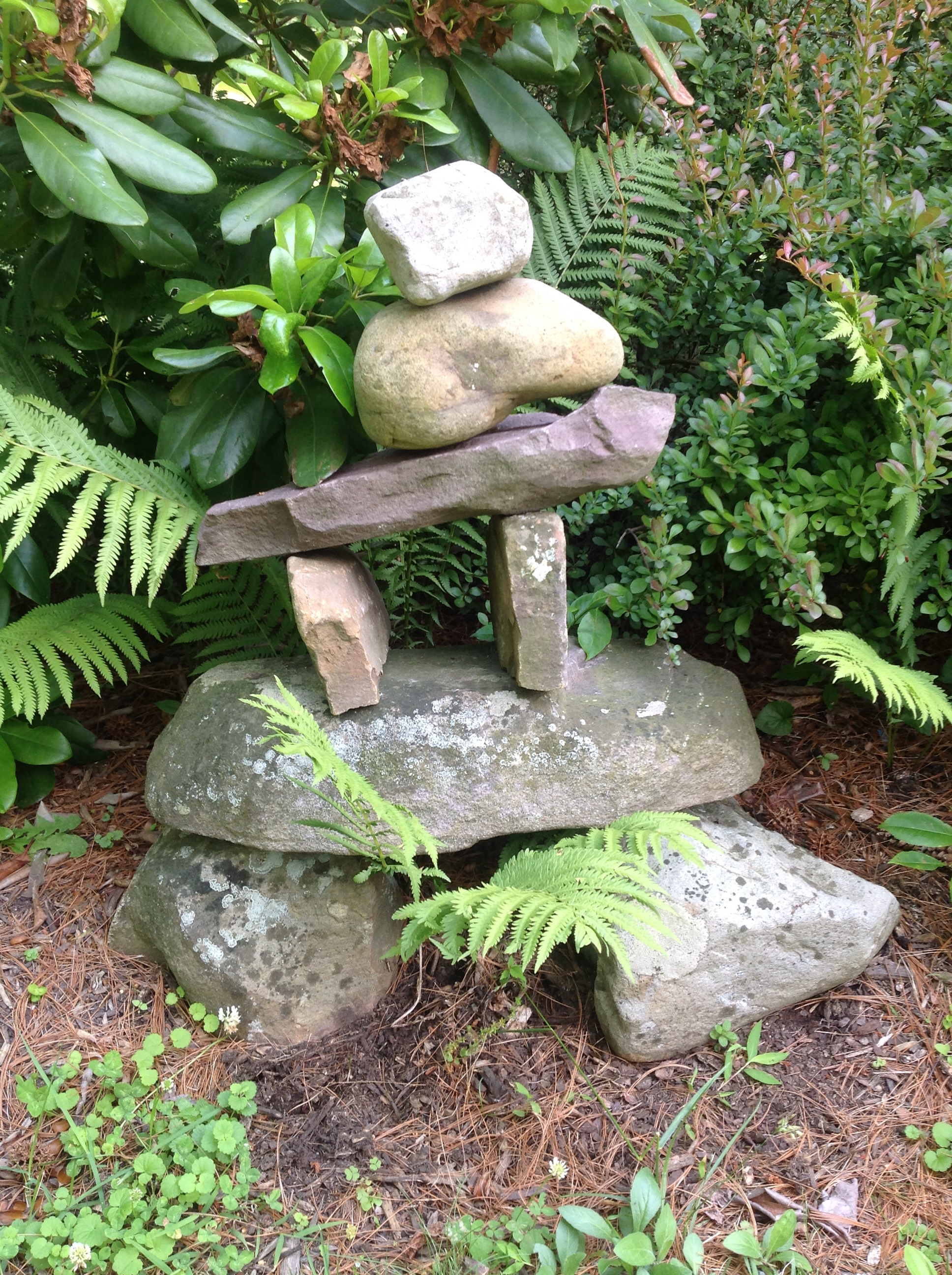 Canadian Inuit Stacked Stone Sculpture