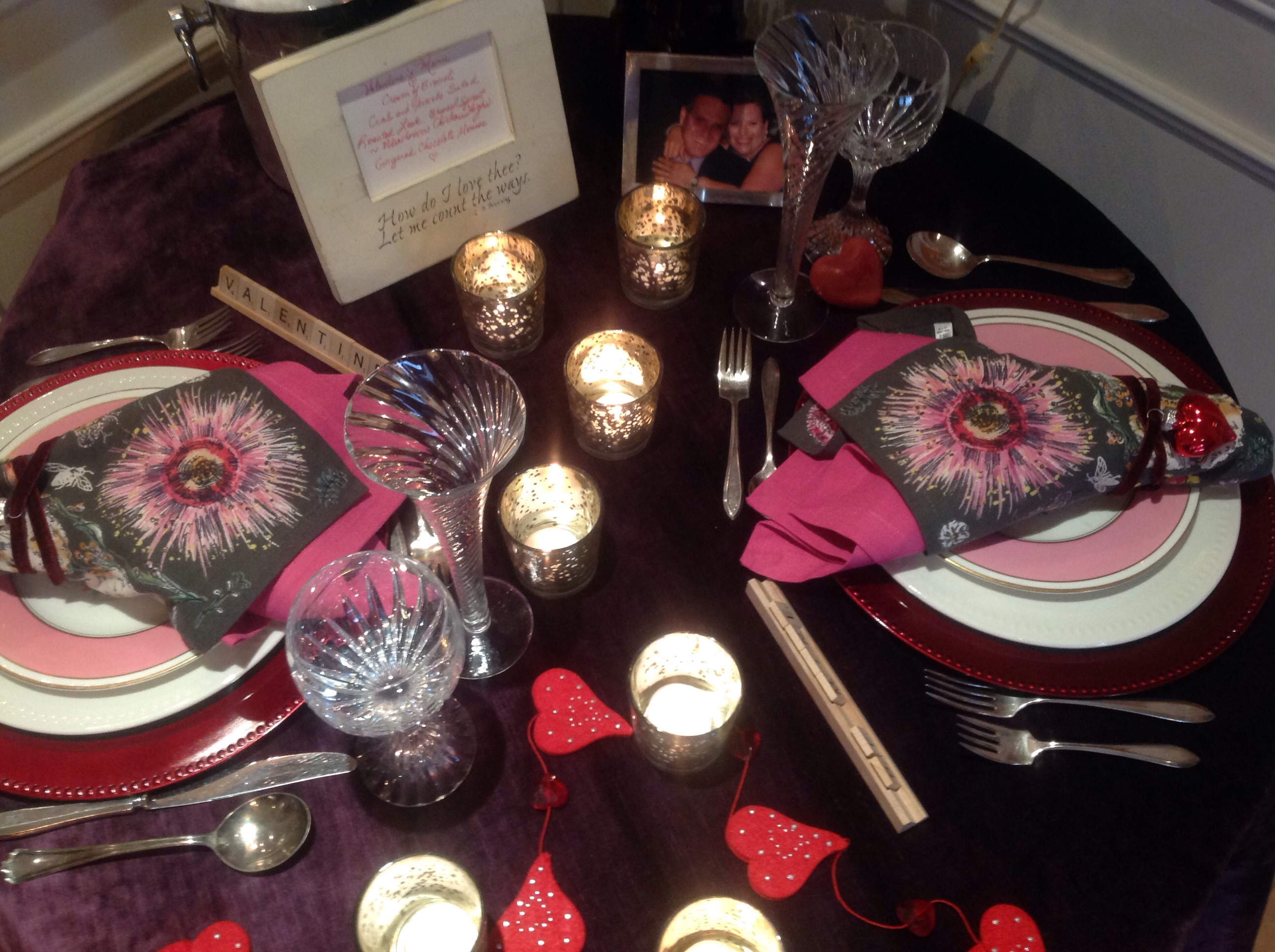 Valentines Day Table Setting French Gardener Dishes