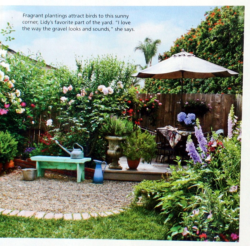 French Country Cottage Feature: Cottage Style Magazine Garden Feature