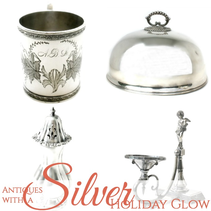 Antiques with Silver Holiday Glow