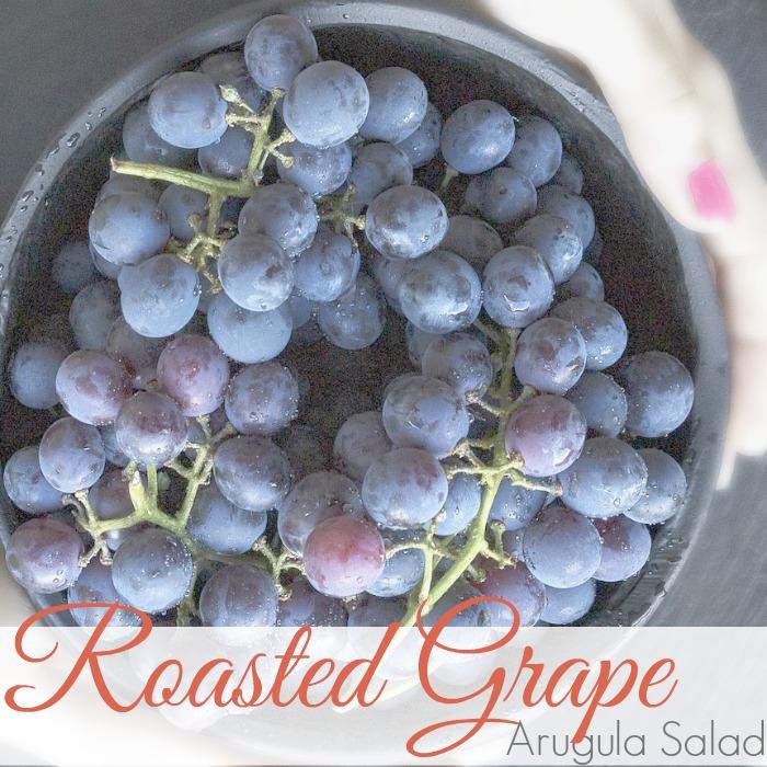 ROASTED GRAPE & ARUGULA SALAD