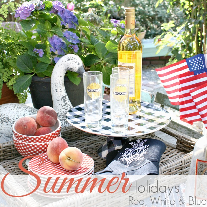CELEBRATE SUMMER HOLIDAYS with RED WHITE & BLUE