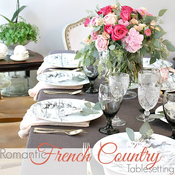 ROMANTIC FRENCH COUNTRY SUMMER TABLE | How to Set your Table like a PRO