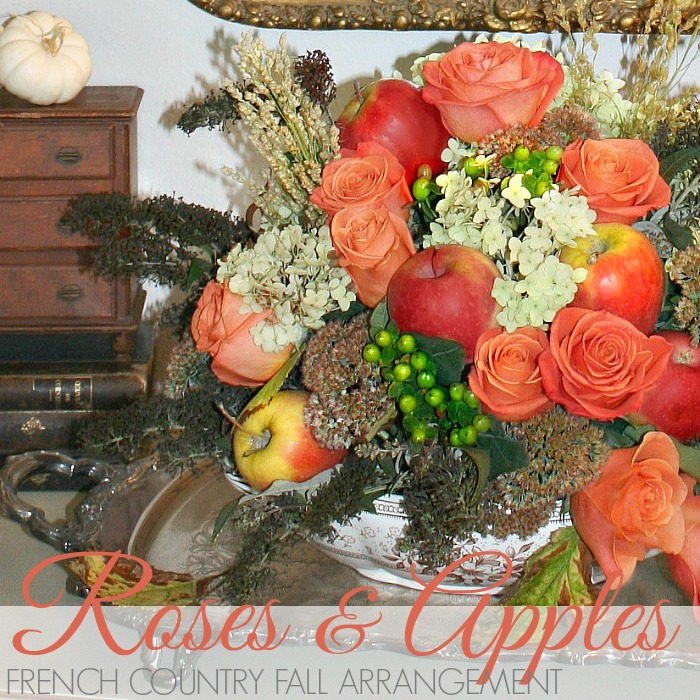 FRENCH COUNTRY APPLE FLORAL ARRANGEMENT