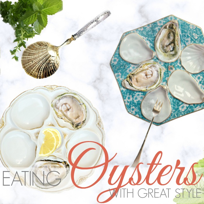 EATING OYSTERS WITH GREAT STYLE