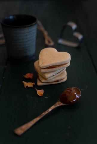 Little prince cookies with milk jam