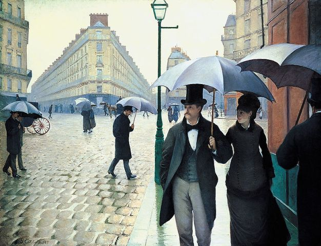 Paris street; Rainy day. (Gustave Caillebotte)