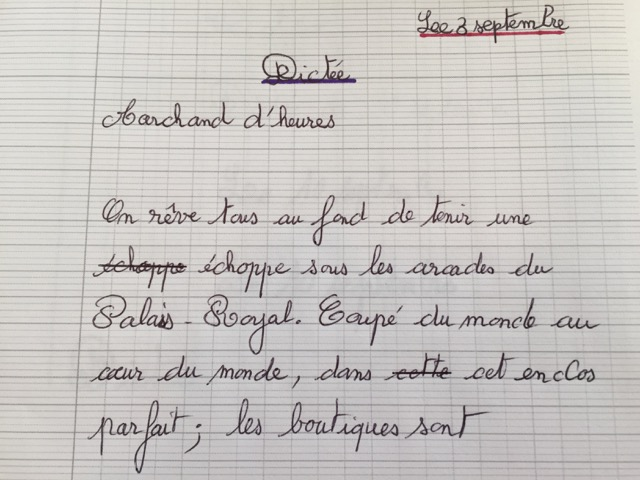 French Dictation Exercise