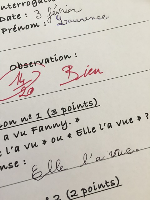 say quiz in French