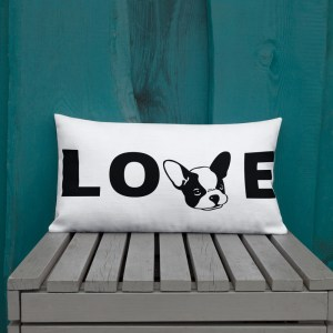 Frenchie Love Pillow
