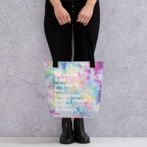 Frenchie Happiness tote bag