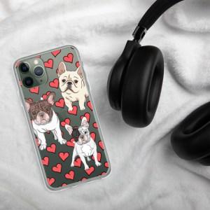 French Bulldog Heart iPhone Case
