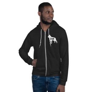 French BFrench Bulldog Dad hoodie sweater
