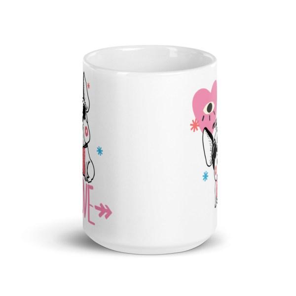 Frenchie Hipster coffee mug