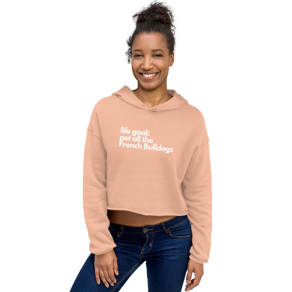 Pet all the French Bulldogs Crop Hoodie