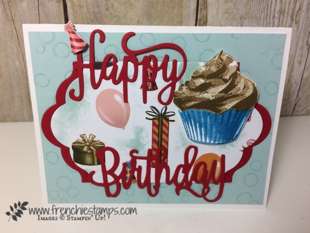 Happy Birthday Thinlits, Sweet Cupcake, Stampin'Up!