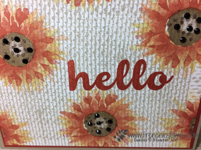 Painted Harvest, Burlap Stamp, Hello Friend, Stampin'Up!,