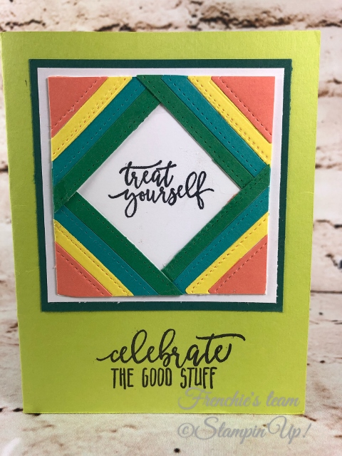 2018-2020 Stampin'Up! in-Colors, Frenchie Team challenge, Picture Perfect birthday