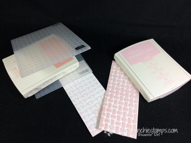 Emboss and color ink Blossoming Blasket Folder