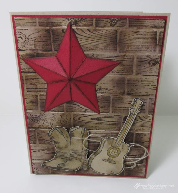 3-D Star for Texas Card Country Livin'