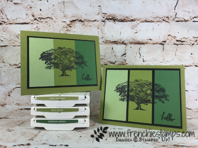 Ombree Tecnique, Rooted In Nature, Stampin'Up!, Frenchiestamps, Panel Card,